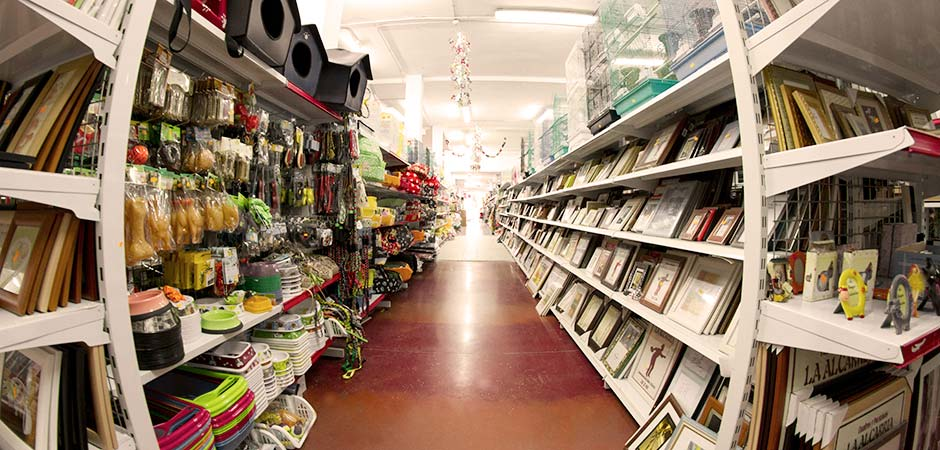 Store Aisle With Consumer Products
